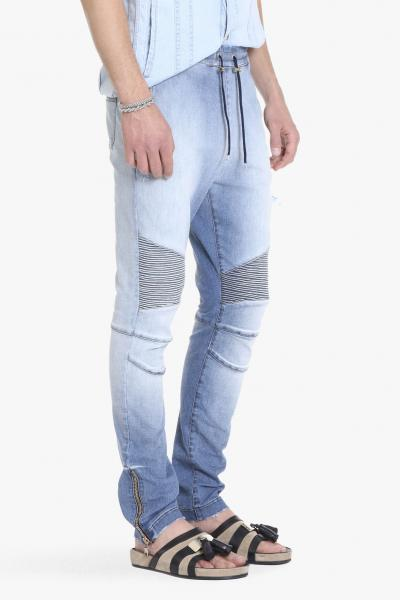 DESTROYED COTTON BIKER SWEAT PANTS