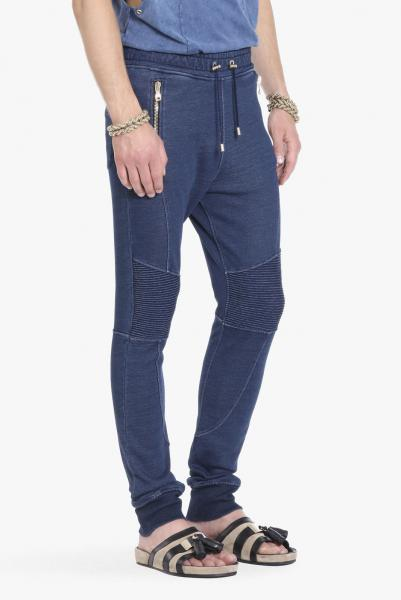 COTTON-JERSEY BIKER SWEAT PANTS