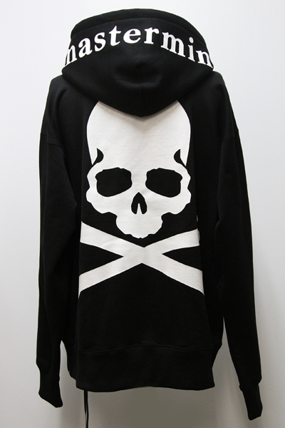MMJ 漆 PRINT SKULL BACK ZIP SWEAT HOODIE(R)