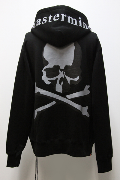 MMJ 陰影 PRINT SKULL BACK ZIP SWEAT HOODIE(B)