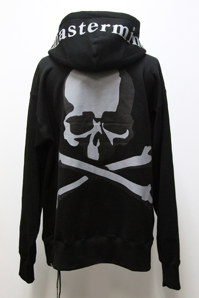 MMJ 陰影 PRINT SKULL BACK ZIP SWEAT HOODIE(R)