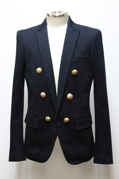SLIM-FIT COTTON BLAZER JKT