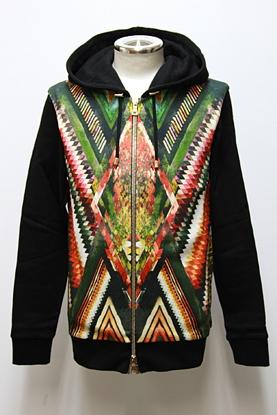 INCA PRINTED COTTON-JERSEY HOODIE