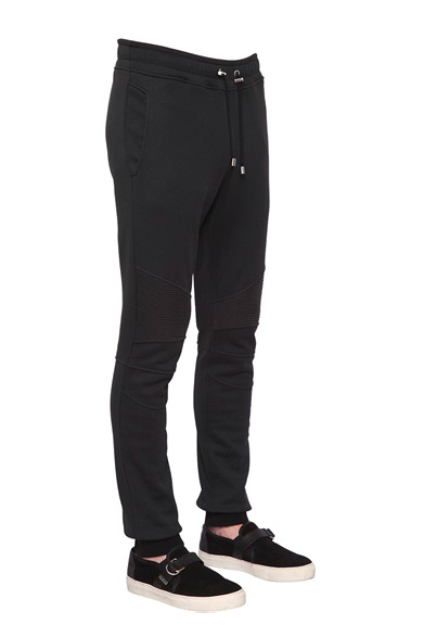 BIKER COTTON JERSEY JOGGING PANTS