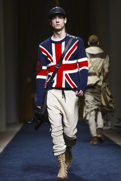 UK FLAG DESTROYED LINEN KNIT WEAR