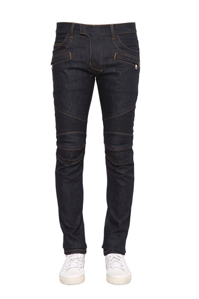 BIKER STRETCH DENIM JEANS「RIGID」