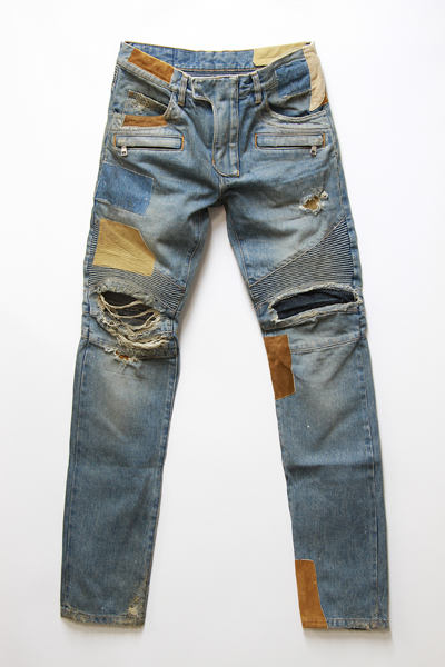CLUSH BIKER DENIM PANTS