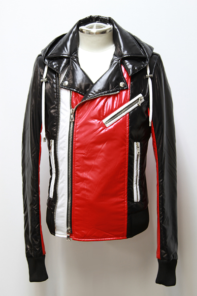 SHINY NYLON HOODED SKY JKT