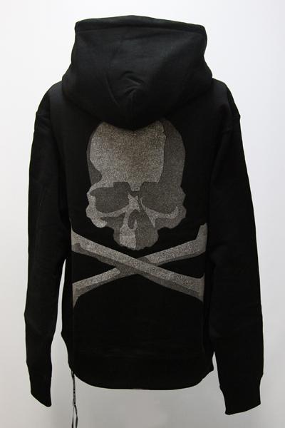 MMJ GLASS BEADS PRINT SKULL PULLOVER SWEATER(R)