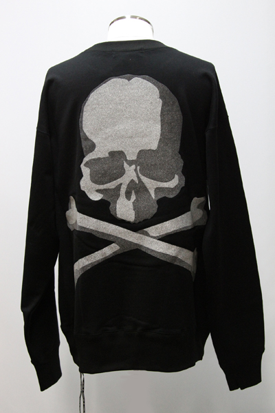 MMJ GLASS BEADS PRINT SKULL PULLOVER SWEATER(B)