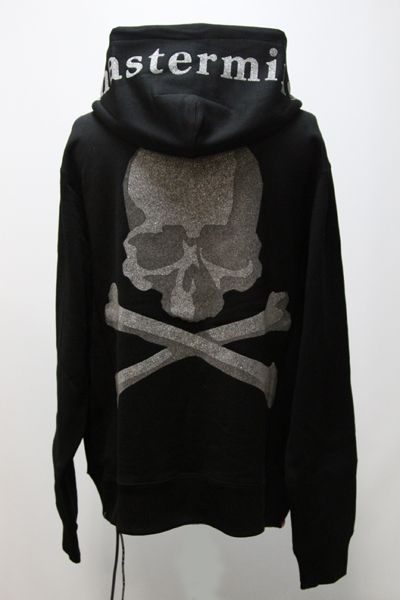 MMJ GLASSBEADS PRINT SKULL FULL ZIP SWEAT HOODIE_B