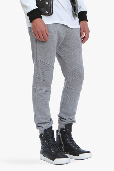 BALMAIN COTTON-JERSEY BIKER LEGGINS PANTS