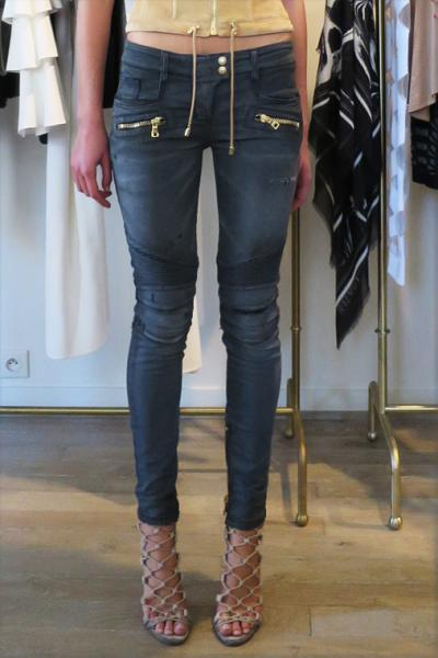 BIKER STRETCH DENIM PANTS