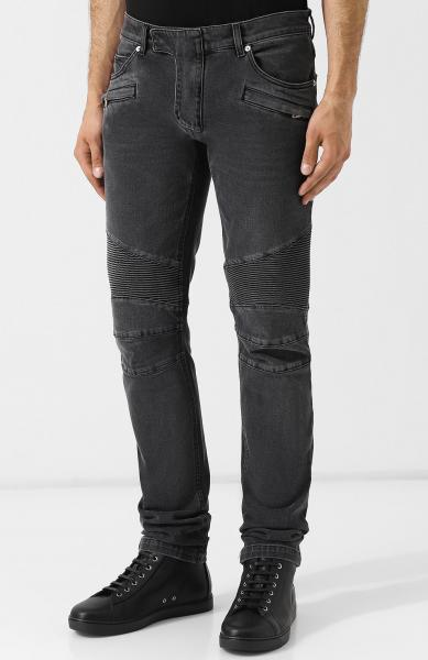SLIM-FIT SELVEDGE DENIM BIKER JEANS