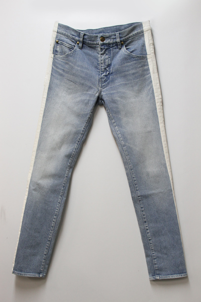 113 WHITE LINE STRATCH DENIM PANT