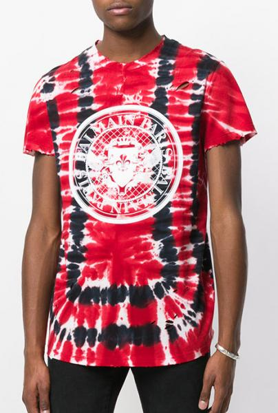 COTTON T-SHIRT WITH TIE-DYE PRINT