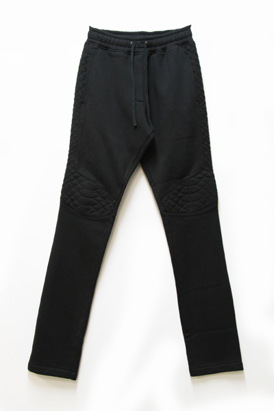 NOIR RIBBED BIKER LEGGINGS