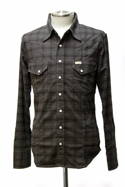 wrangler stretch check western shirt