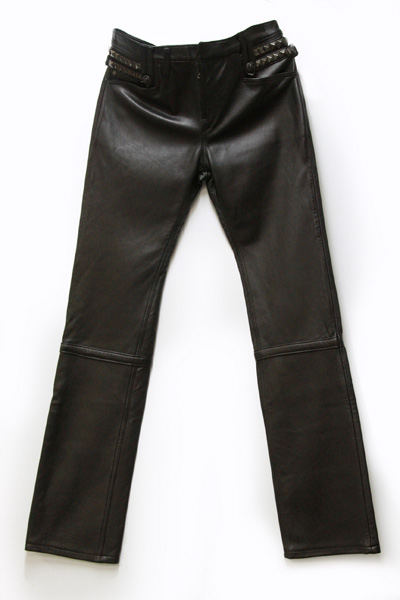 NUCKLE-SP STRETCH SHEEP SKIN LEATHER PANTS