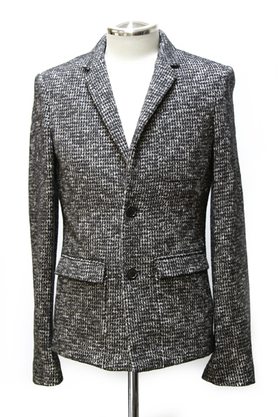 TWEED CHECK 2 BUTTON JACKET
