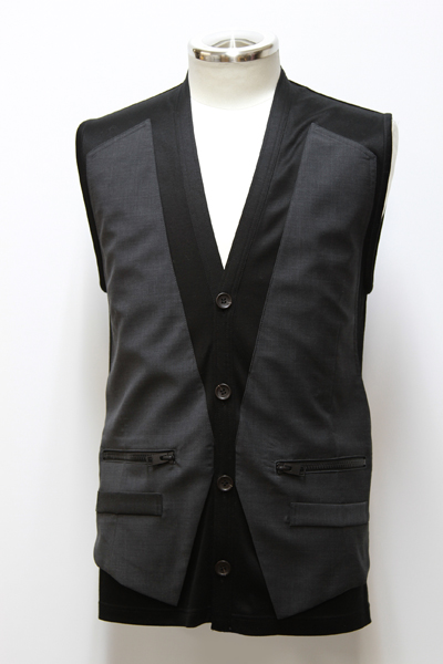 STERETCH JERSEY RAYERED VEST