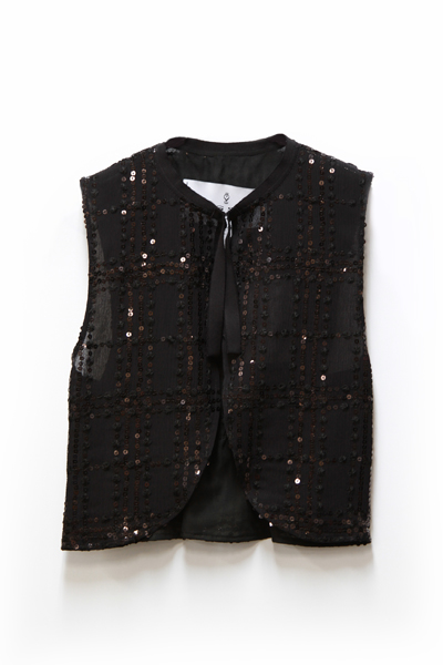 SILK RAYERED SPANGLE VEST