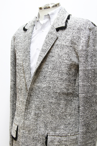 LONG COAT with chanel tweed trimming