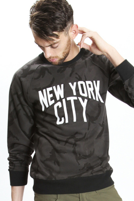 113 x NUMBER (N)〝NEW YORK CITY〟CAMO PULL OVER