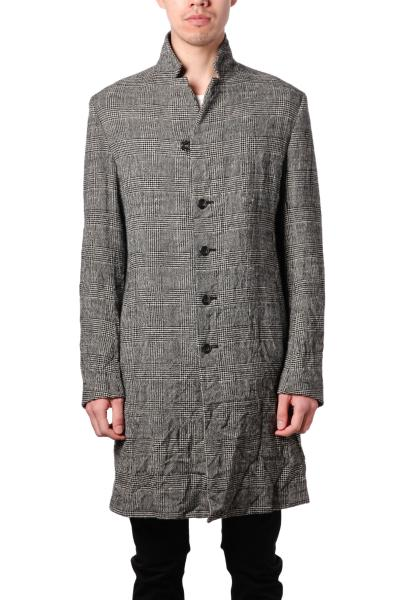 KKA STRETCH TWEED LONG COAT