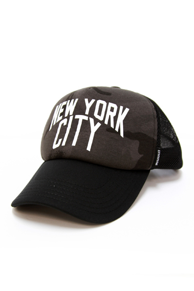 113 x NUMBER (N)〝NEW YORK CITY〟CAMO CAP