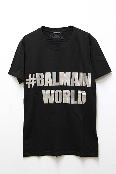 #BALMAIN WORLD TEE SHIRT