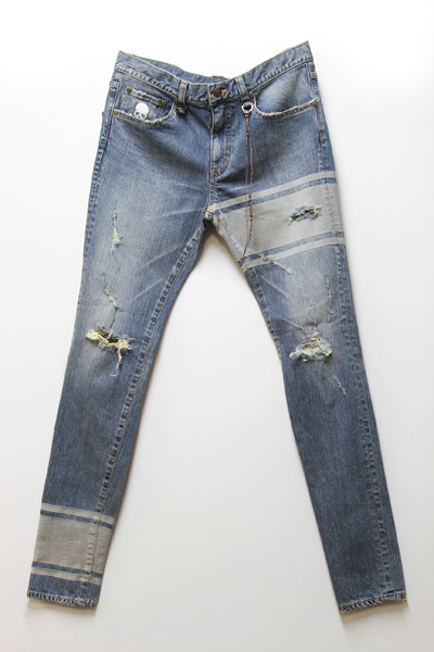 mastermind JAPAN DESTROYED SLIM 3LINE JEAN