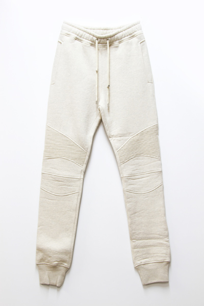 BALMAIN COTTON-JERSEY BIKER SWEAT PANTS