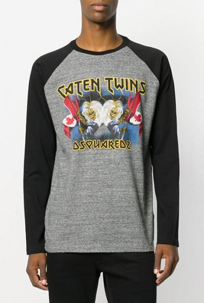 DSQUARED2 Caten Twins Raglan cut swen