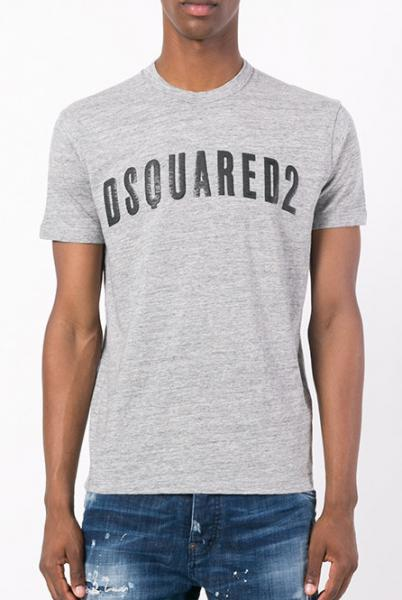 DSQUARED2 Logo D2 Grey Meliert T-shirt