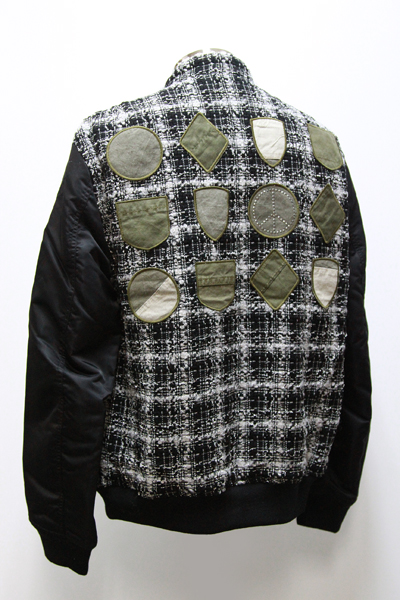 LAME TWEED US MILITALY WAPPEN BLOUSON