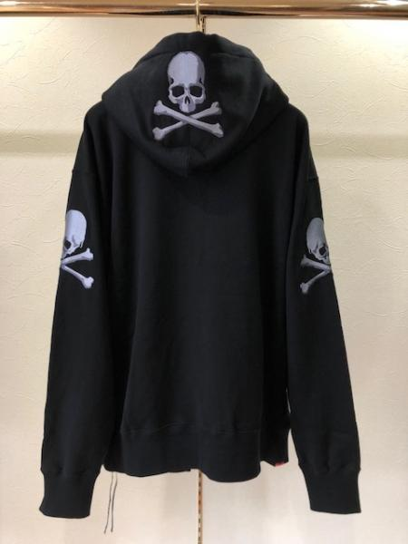 MMJ 3面 Skull zip sweat parka(B)
