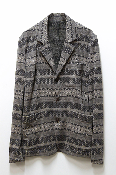 JACQUARD COTTON JACKET