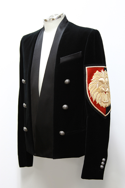 COTTON VELVET JACKET WITH SLEEVE PATCH