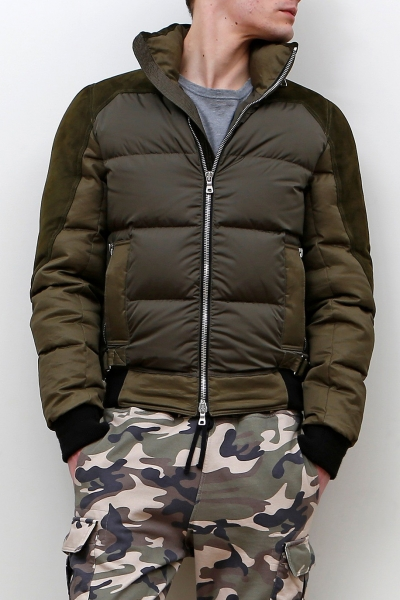 SUEDE MIX DUCK DOWN JACKET