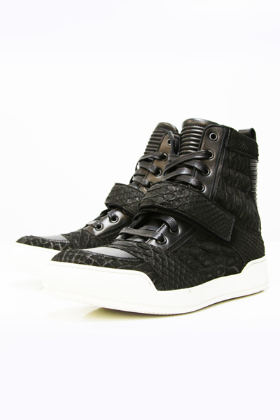 PYSON AND CROCODILE HIGH TOP SNEAKERS