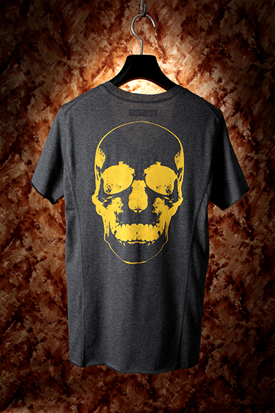 113 V NECK TEE SHIRT「BACK VINTAGE SKULL」