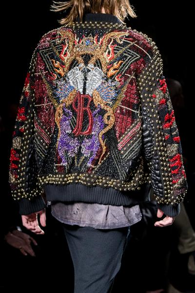 BALMAIN BLOUSON ALL OVER SERPENT B