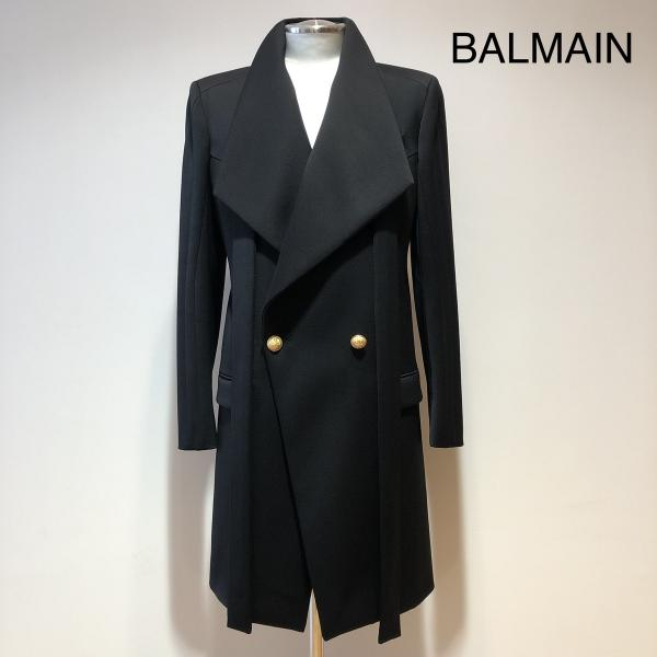 BALMAIN MORNING LONG BLACK COAT