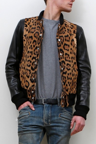 LEOPARD PRINTED TEDDY JACKET